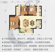 时代云图(广州)3室2厅2卫95平方米户型图