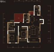 奥克斯城市之光2室2厅2卫117平方米户型图