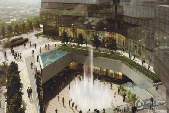 汇豪国际下沉式广场效果图