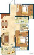 深业世纪新城2室2厅1卫84平方米户型图