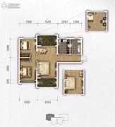 �上II熟地当归3室2厅1卫86平方米户型图