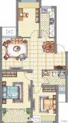 梧桐公馆3室2厅1卫91平方米户型图