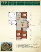 金色阳光花园3室2厅2卫140平方米户型图