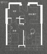 华庭悦城江景公寓1室1厅1卫43平方米户型图