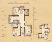 奥园康城3室2厅2卫136平方米户型图
