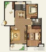 正诚阳光花墅2室2厅1卫108平方米户型图