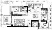 海湾一城3室2厅2卫0平方米户型图