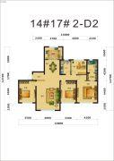 中海�鼎大观4室2厅2卫162平方米户型图