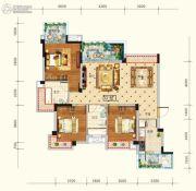 水润东都3室2厅2卫118平方米户型图
