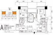 正邦博贸大厦3室2厅2卫88平方米户型图