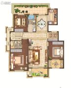 月桥花院3室2厅2卫137平方米户型图