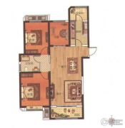 中波・褐石公园3室2厅1卫117平方米户型图