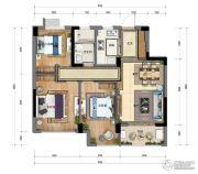 新天地・金色时光3室2厅2卫89平方米户型图