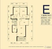 君和君泰3室2厅2卫105平方米户型图