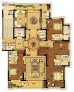 台州中央花园5室2厅5卫295平方米户型图