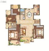 月桥花院3室2厅2卫131平方米户型图