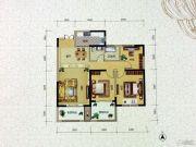 水岸明珠・新都3室2厅1卫101平方米户型图