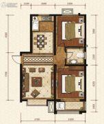 岸上澜湾2室2厅1卫93平方米户型图
