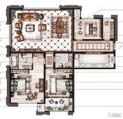御庭园3室2厅2卫139平方米户型图