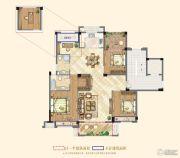 祥生悦山湖4室2厅2卫133平方米户型图