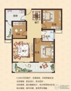 中瓯名城3室2厅1卫103平方米户型图