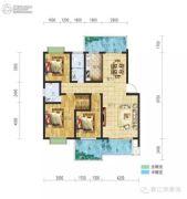 春江・帝景湾3室2厅2卫121平方米户型图