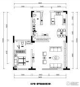 建业桂园129平方米户型图