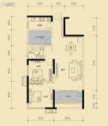 保利香槟国际3室2厅1卫87平方米户型图