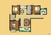 壹号公园3室2厅1卫126平方米户型图