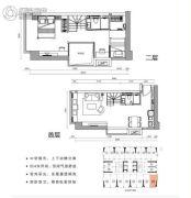 涛汇广场3室2厅2卫48平方米户型图