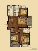 海峡城3室2厅2卫132平方米户型图