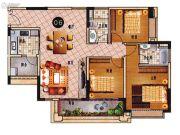 乐天峰公馆3室2厅2卫113平方米户型图
