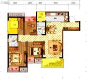康桥融府3室2厅2卫82平方米户型图
