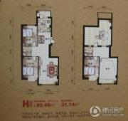富邦・文华天成3室2厅2卫0平方米户型图