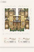 天朗大兴郡2室2厅1卫122--126平方米户型图