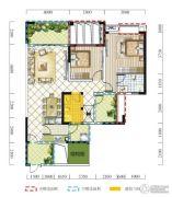 远达春天里3室2厅2卫110平方米户型图