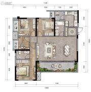 新城朗隽大都会4室2厅2卫101--125平方米户型图