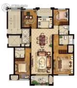 悦山湖4室2厅3卫138平方米户型图