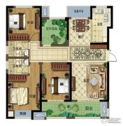 弘阳广场3室2厅2卫138平方米户型图