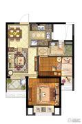 保利中央公园2室2厅1卫70平方米户型图