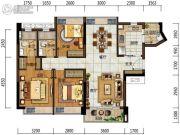 中海左岸岚庭3室2厅2卫99平方米户型图