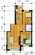 万泉・欧博城2室2厅1卫93平方米户型图
