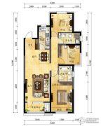 中海国际社区3室2厅2卫116平方米户型图