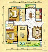 中央新城2室2厅2卫137平方米户型图