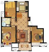 金地名悦3室2厅1卫0平方米户型图
