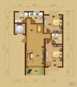 江南山水2室2厅2卫92平方米户型图