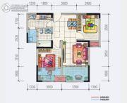 地铁首座3室2厅1卫65--72平方米户型图