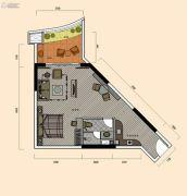巽寮湾・幸福方舟1室1厅1卫67平方米户型图