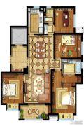 东原逸墅4室2厅2卫130平方米户型图