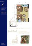 金科城1室2厅1卫0平方米户型图